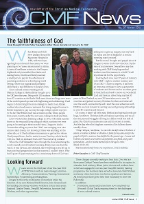 ss CMF news - Winter 2018,  The faithfulness of God: final thoughts from Peter Saunders after three decades of service to CMF