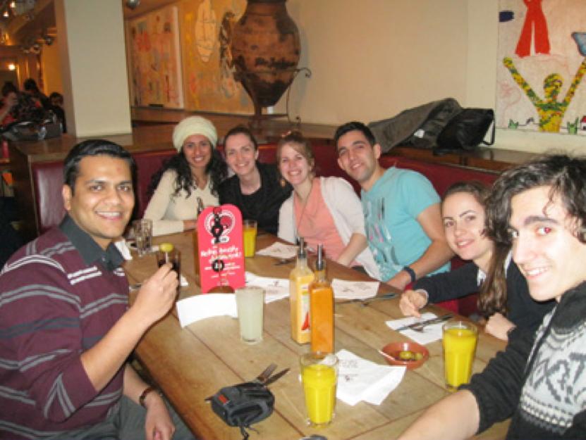 Delegates socialising